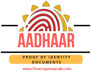 Aadhaar Identity Proof Documents