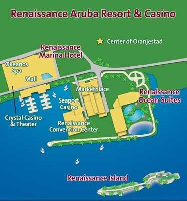 Renaissance Island Aruba Map