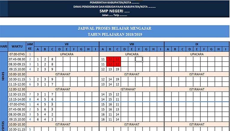 Download Aplikasi Jadwal Pelajaran Otomatis Untuk SMP/MTs
