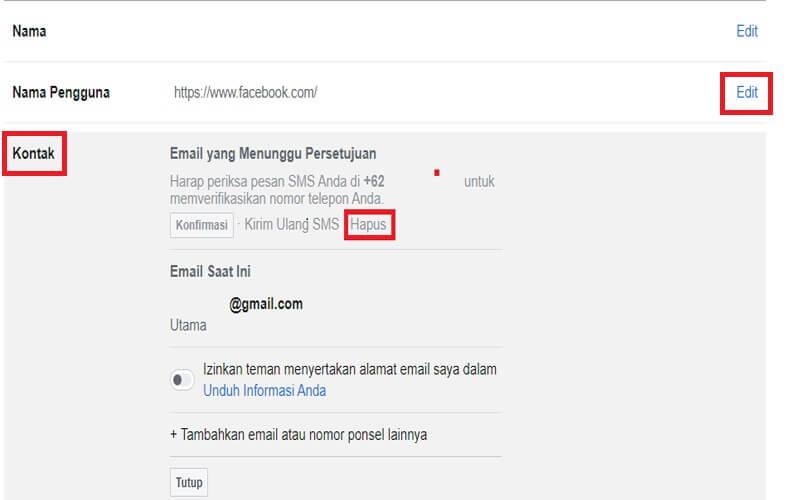 Cara Mengganti Email Facebook dan Menghapus Email Lama