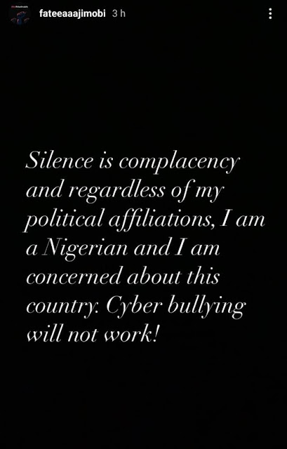 """Cyberbullying will not work – Ganduje's daughter writes hours after stating regret for supporting """"bunch of senseless leaders"""""""