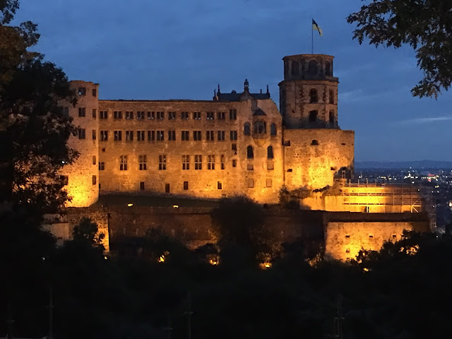 Explore Heidelberg Castle at night