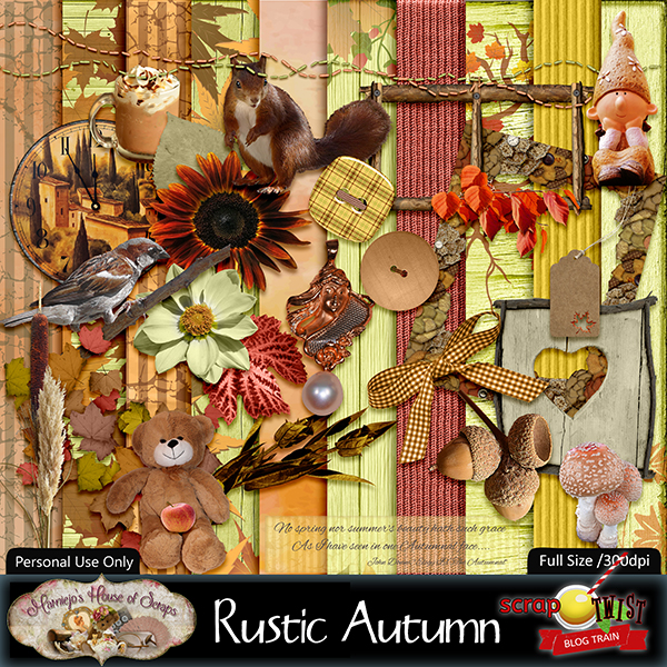 "September Scrap Twist Blogtrain - ""Rustic Autumn"""