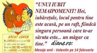 Mesaje rautaciose de Sfantul Valentin, ziua îndrăgostiților