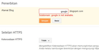 How to Change Url (Blogspot subdomain name)