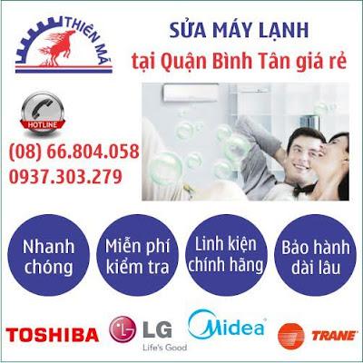 Dịch vụ sửa máy lạnh tận nhà quận Bình Tân