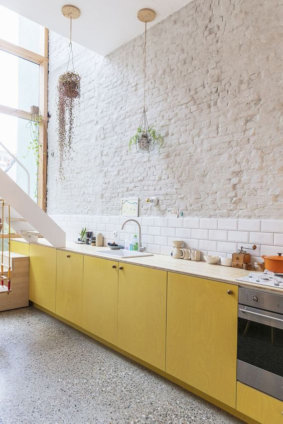 Yellow Ochre is The It Color Of The Summer-design addict mom #kitchen