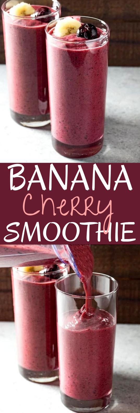 Banana Cherry Smoothie #drinks #smoothies