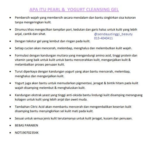Pearl Yogurt Cleansing Gel