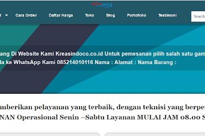 Kreasindoco.co.id Ganti Theme Biar Kece Dan Banyak Orderan