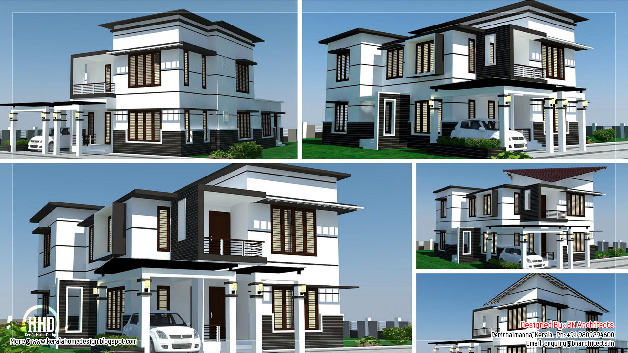 2500 4 bedroom modern home design kerala home for 2500 sq ft house plans india