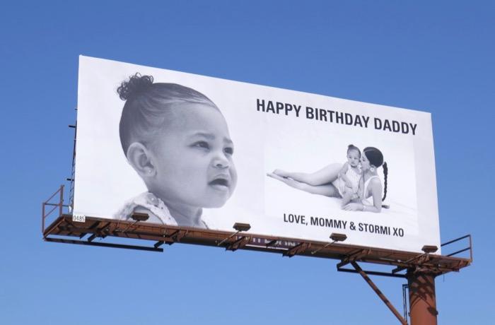 Happy Birthday Daddy Kylie Jenner Stormi billboard