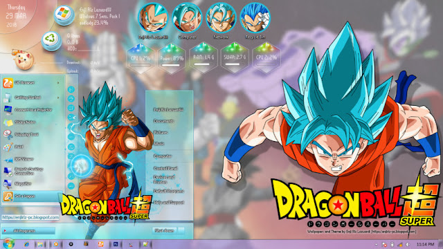 Dragon Ball Super Theme Win 7 by Enji Riz Lazuardi