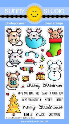 Sunny Studio Stamps: Merry Mice Christmas Mouse 4x6 Photopolymer Clear Holiday Stamp Set