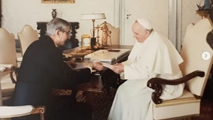 Nelson Castro visitó al Papa Francisco