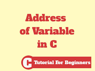 How To Access The Address Of Variable Name