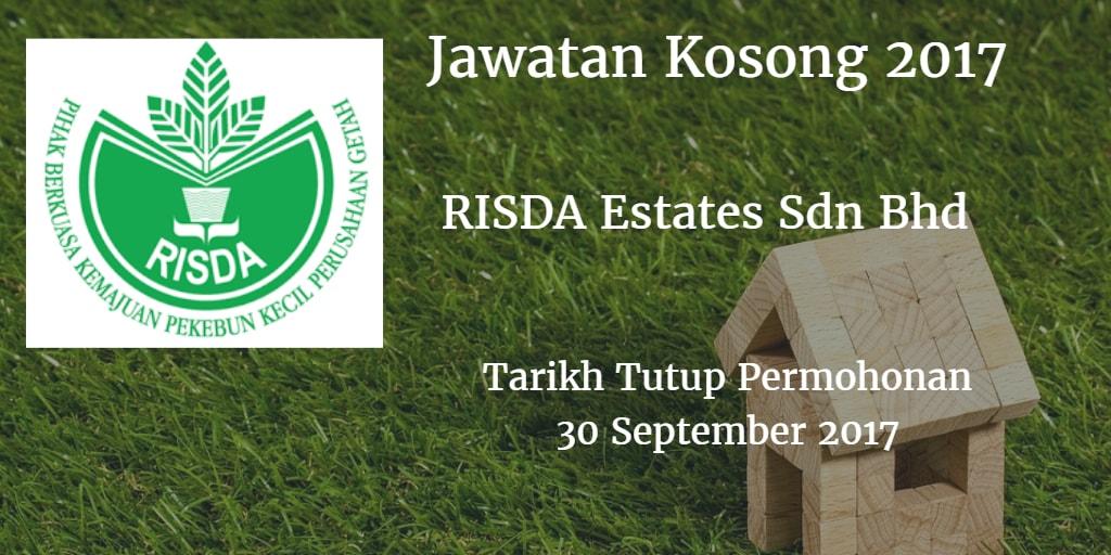 Jawatan Kosong RISDA Estates Sdn Bhd 23 September 2017