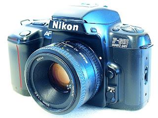 Nikon F-601, AF Nikkor 50mm F1.8 D, Front left