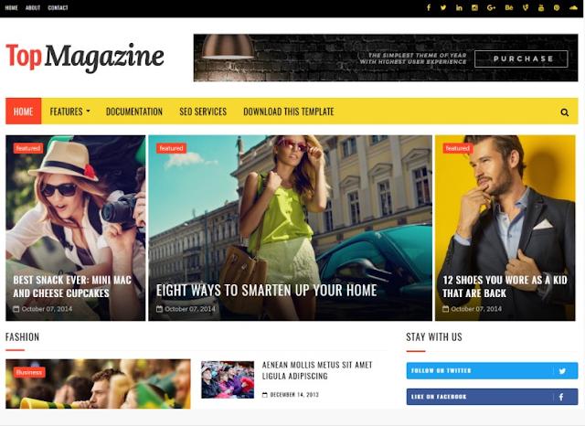 Top Magazine Responsive Blogger Tema