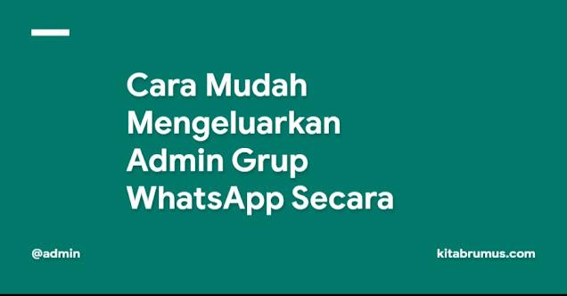Cara Mudah Mengeluarkan Admin Grup WhatsApp Secara Permanen