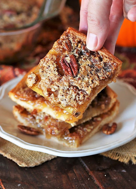 Pecan Pie Bars with Crescent Roll Crust Image