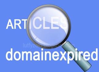 Artikel Domain Expired