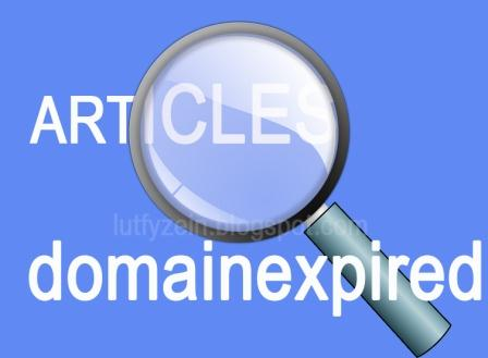 seyogyanya untuk menjadi blogger handal bukan hanya sekedar menguasai cara tekhnik SEO te Mendapatkan Artikel Dari Domain Expired Ada Sisi Negatifnya
