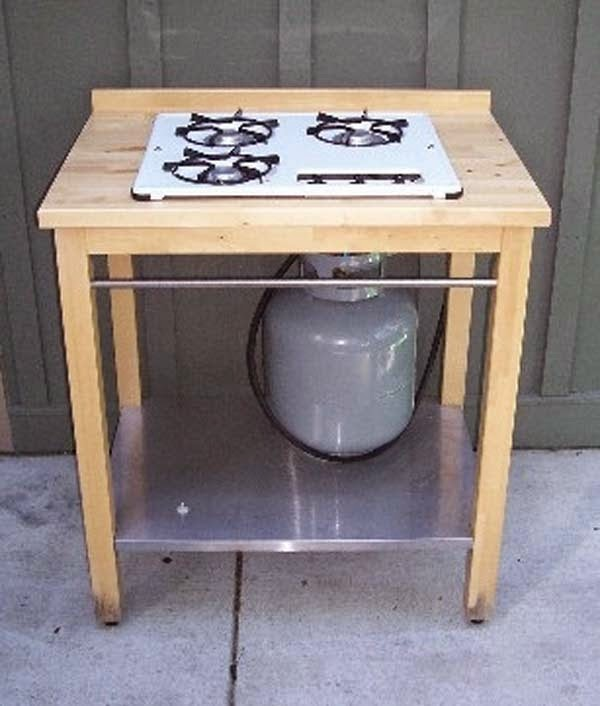 22.) Hack and IKEA table to make an outdoor stove. - These 29 Do-It-Yourself Backyard Ideas For Summer Are Totally Awesome. Definitely Doing #10!