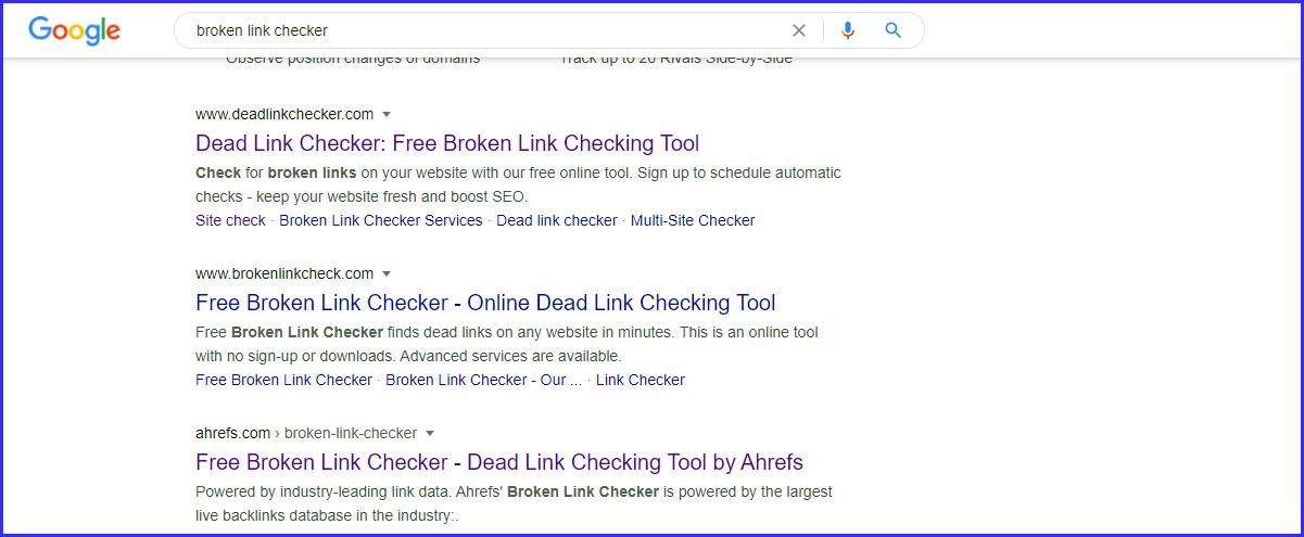 Off-page SEO broken link checker