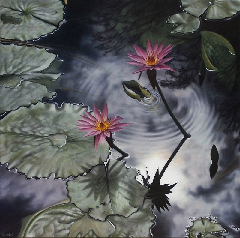 04-Ai-Shah-Realistic-Paintings-of-Water-Reflections-www-designstack-co