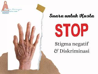 Suara untuk kusta stop stigma negatif dan diskriminasi