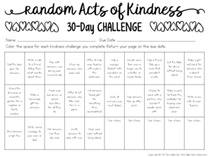 Cultivate a culture of kindness in your classroom with these Random Acts of Kindness ideas for children and young students. Gather ideas for your classroom and grab a FREEBIE - a 30-Day Random Acts of Kindness Challenge for Kids!