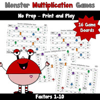 Multiplication Monster Games
