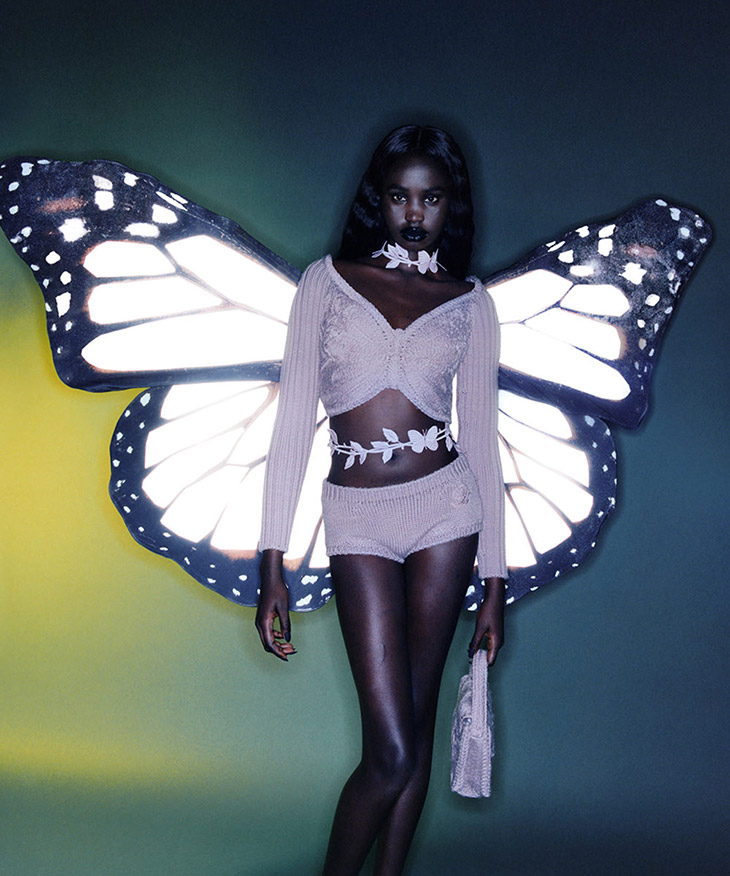 Models Adit Priscilla stars in Blumarine's FW21 campaign lensed by Harley Weir