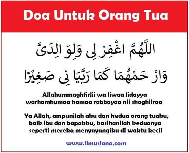 Doa Untuk Orang Tua Yang Masih Hidup