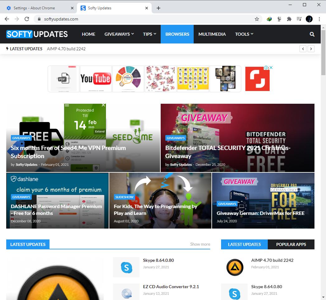 Google Chrome Browser 88.0.4324.146