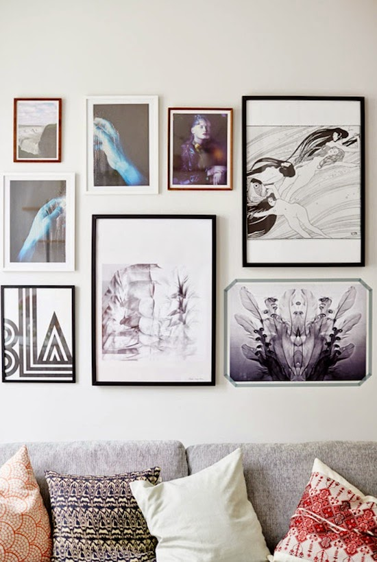 Scavengenius wall gallery inspiration - Wall collage ideas living room ...