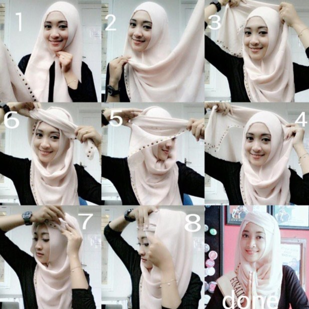Koleksi Foto Cara Memakai Hijab Trendy dan Simple 8113641db3