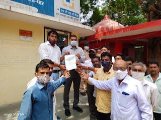 प्रजापत समाज द्वारा राजपुर जिला बडवानी में मुस्लीम समुदाय के युवक द्वारा अपहरण को लेकर ज्ञापन दिया