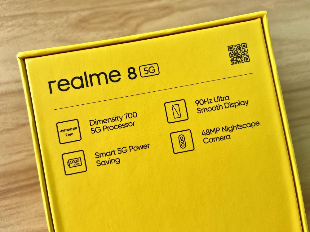 realme 8 5G Retail Box - Back