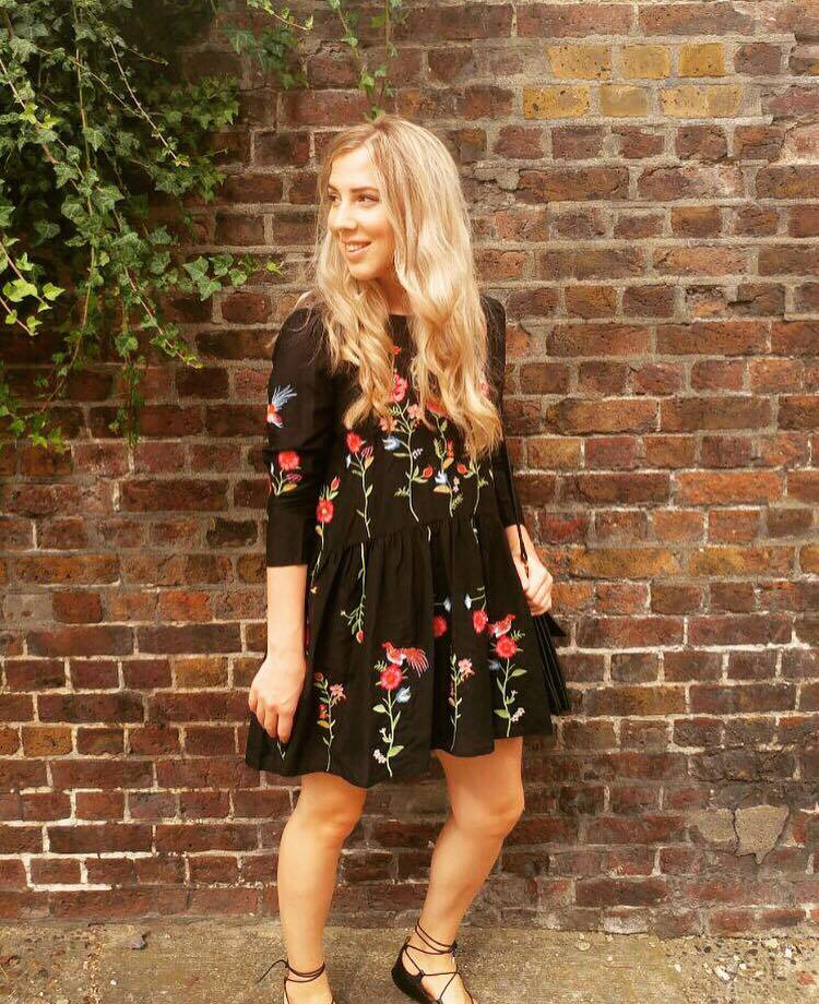 Dress Of The Month The Zara Embroidered Floral Dress Sarah Rose