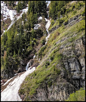 Second Waterfall just left of Stewart Falls by Mount Timpanogas Wilderness Area
