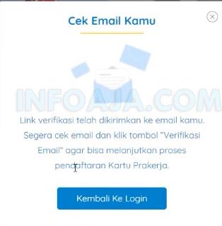 Cek email dari daftar kartu prakerja