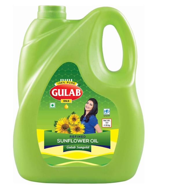 GULAB store Refined Sunflower Oil (5 LTR)
