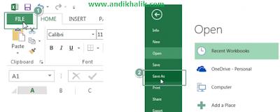 Cara menyimpan file excel dalam Format 97-2003 agar dapat dibaca ke semua Versi