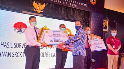 Luar Biasa, Polres Solok Kota Raih  Penghargaan Juara 1 dalam Pelayanan SKCK  Se-Indonesia.
