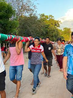 Prefeita Ana Cláudia participa da abertura dos festejos da comunidade Coceira, zona rural de Santa Quitéria-MA