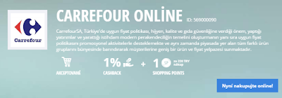 Carrefour online Lyoness Cashback Card 2016