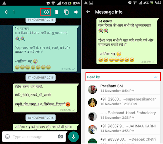 Which Group Members read messages in WhatsApp