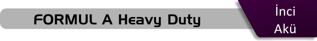 inci akü formul a heavy duty serisi akü fiyatları